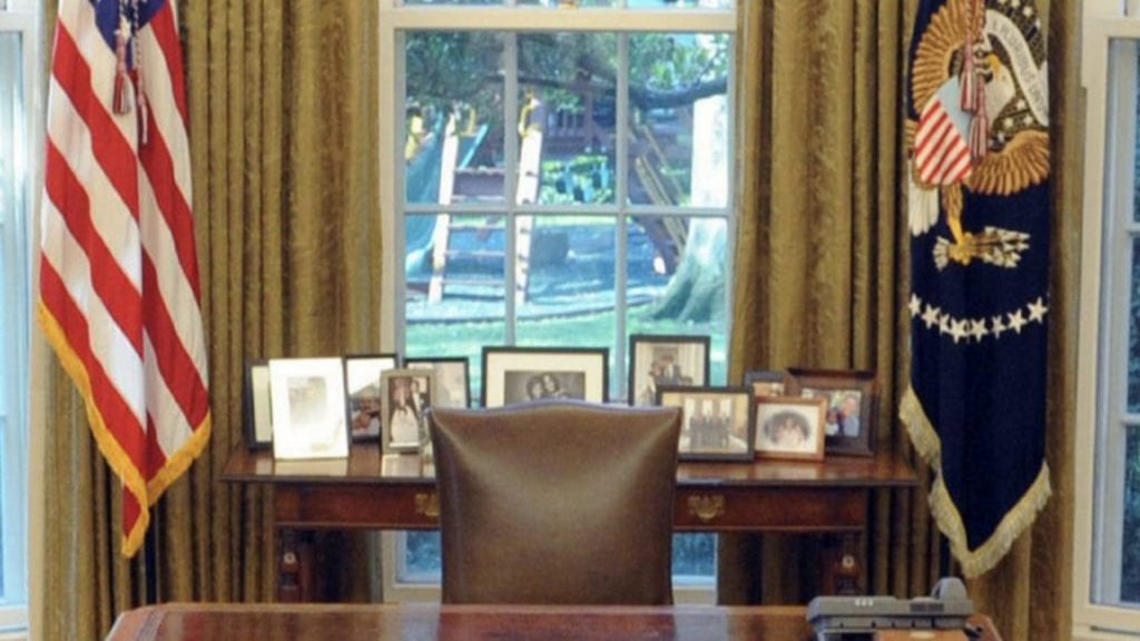 USA Oval Office Zoom Background